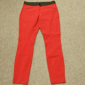 Theory red pants size 8